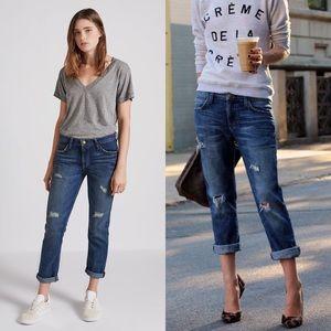 Current Elliott Boyfriend Loved Destroyed Jeans 26